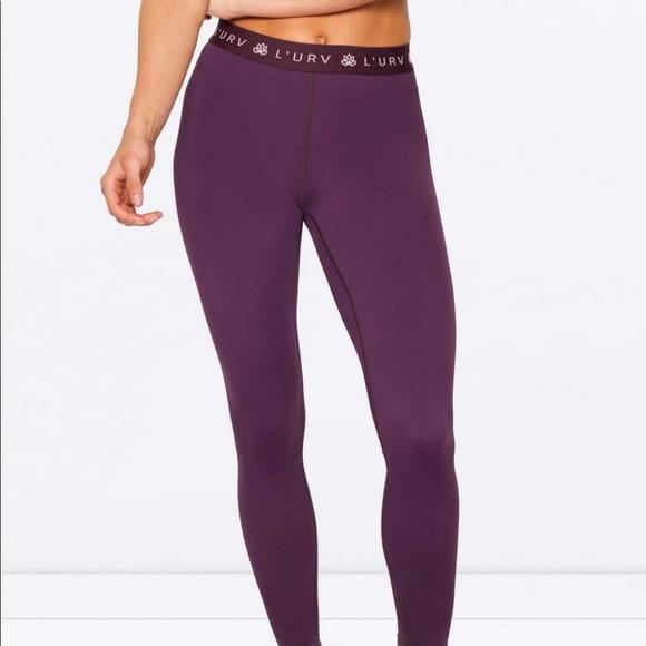 e7ca72bebcb59 L'urv Pants | Lurv Eggplant Purple Leggings Workout | Poshmark